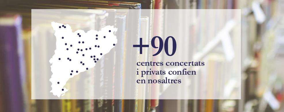 +90 centres confien en nosaltres
